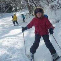 八兵衛山でスキー学習