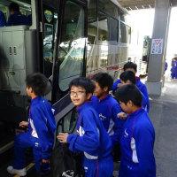 4/19朝 1・2年校外学習に出発