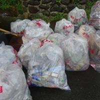 赤松川の清掃と空き缶拾い