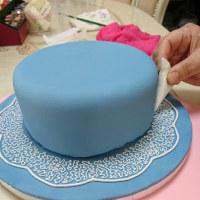 シュガーブーケのケーキ(ひろみさんへのシュガーアートレッスン)