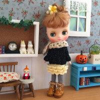 ナナズリトルラス★黒いセーターとフリルスカート