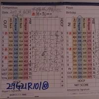 今日のゴルフ挑戦記(101)/東名厚木CC アウト(A)→イン