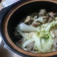 今日の夕食は、鍋!!