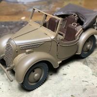 ファインモールド1/35 九五式小型乗用車 くろがね四起製作記 その3
