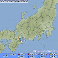2016年11月21日(月) 08時35分 - 三重県中部 M3.1 (最大震度2) 深さ 約20km