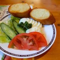 コメチキ&バゲットサラダ