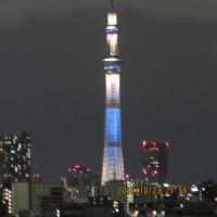 今夜の東京スカイツリー