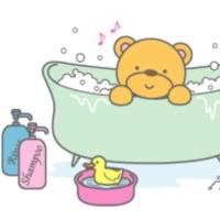 朝風呂に入ります。