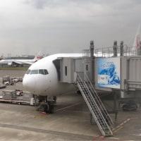 搭乗機はB772、座席はF