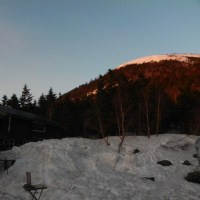 蓼科山荘より GW中の登山道の状況