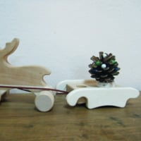 トナカイさんと手作りツリー