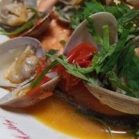 鮭とアサリのアクアパッツア風