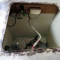 アパートミニキッチン電熱器からIHヒーターに交換工事です。KZ-11BP