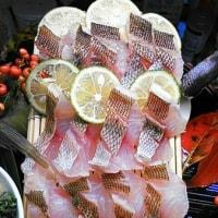 秋イサギの焼き霜造り…アラ出汁お粥さんなど