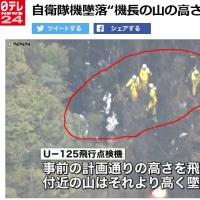 """核を積んで墜落したと噂される自衛隊機U-125 """"機長の山の高さ誤認""""が原因"""