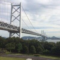 道後温泉と瀬戸大橋