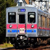 金町線を行く京成3500形未更新車