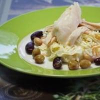 今朝のサラダ・・・コールスロー・チキン・お豆・・・