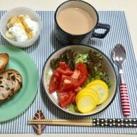トマトとズッキーニのサラダで朝ごはんと 突然デジカメが・・・