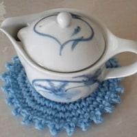 手編みの急須敷