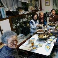 弟夫婦がお祝いに来てくれて、11人の食卓は、やっぱり賑やかでした。