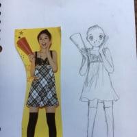 マンガの描き方、身体の描き方の練習