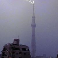 スカイツリーの雷
