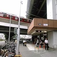 5月24日谷町線駒川中野駅人身事故・八尾南行き4号車の位置に。ホームのベンチは、転落防止の垂直ではなく線路に平行タイプ。ホーム下の退避スペースに逃げて怪我だけとか。