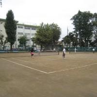 昨日はテニス