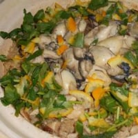牡蠣の土鍋ご飯