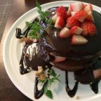 【森ノ宮】苺もチョコもパンケーキも大好き☆「苺と生チョコのパンケーキ」(フルーツキッチン ほのか)