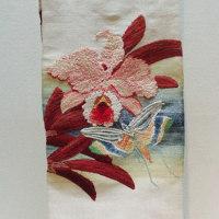 ミュージアム巡り 動物集合 手織錦群芳図単帯