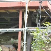 ベランダ補修工事最終段階