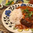 トマトスープリメイクカレーの夕ご飯