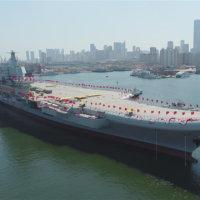 中国初の国産空母が26日午前に進水
