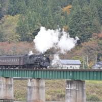 11月9日撮影 飯山線 SL試運転より その3 越後川口→内ヶ巻にて