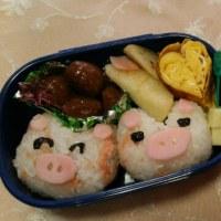 遠足→弁当