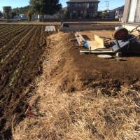 茨城 本格的な境界 土留めブロック塀の準備と遣り方