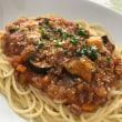 休日ランチ☆完熟トマトを使って~茄子入りミートスパゲティ☆