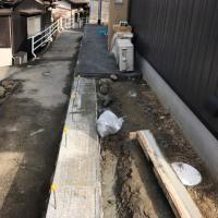 倉敷市呼松で外構工事も着々と進行