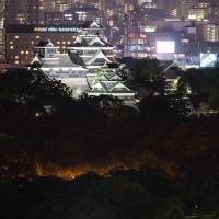お城の光と新幹線の光、勝つのは…?