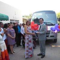 養護学校にバス整備支援=草の根資金で、クイアバ