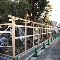 倉敷市内の門塀改築現場も一区切り