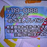 1/16・・・めざましプレゼント