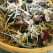 浅利のタルタルサラダにスパゲティボンゴーレー