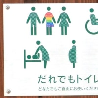 LGBTにも配慮 モネの池近くのトイレ