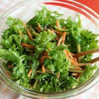 ワサビ菜はこの時期味がマイルドで食べやすい