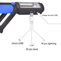 モバイルバッテリー機能を備えた USB充電式ワークライト