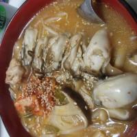 うちで、野菜たっぷり 牡蠣キムチスープ☆