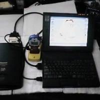 汎用バッテリーで動くノートパソコン